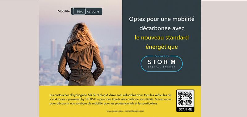 Réalisation d'une annonce presse pour la startup Stor-h